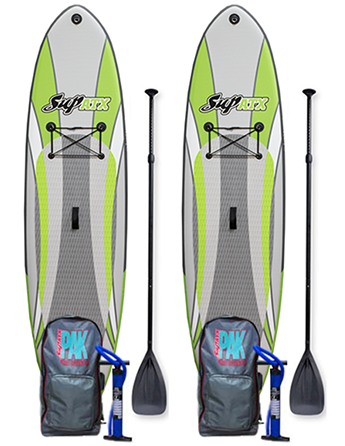 TWO Board iSUP + TWO Paddle Deal! | SUP ATX Inflatable iSUP PAK | Length: 10'6"