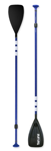 SUP USA Carbon/Fiberglass/ Adjustable Paddle - Blue