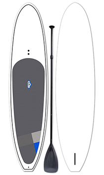 Classic SUP Paddleboard & Paddle | Color: White | Length: 11'6"