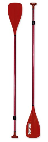 SUP USA Carbon/Fiberglass/ Adjustable Paddle - Red
