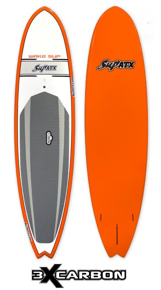 SUP ATX Wake Surf SUP | Model: WO9 | Color: Orange/Grey | Size: 10' x 29"