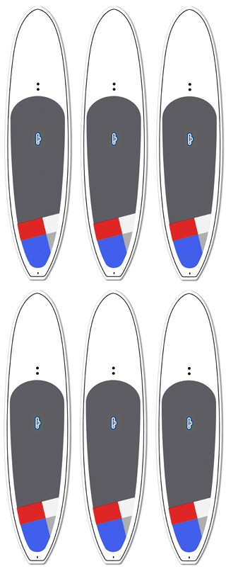 6 Board SUP Wholesale Deal! | Model: Private Label (6-pack) | Length: 10'6 | FREE SHIPPING!