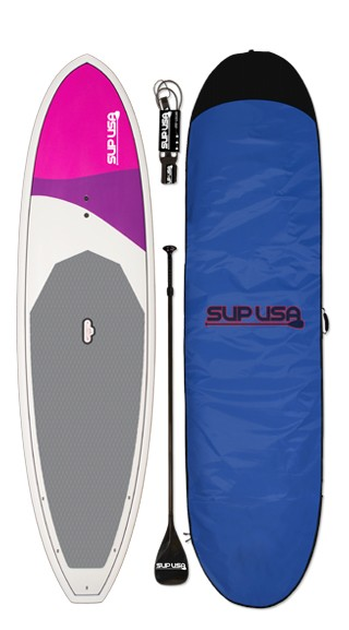 "SUP USA Paddleboard | Model: Island | Color: Purple | Length: 10'6"" (*Includes Board, Paddle, Boardbag, Leash, Fin)"