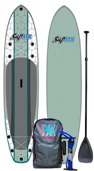 SUP ATX Journey Inflatable iSUP PAK | Color: Seafoam | Length: 10'6""